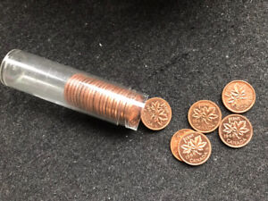 Collectible coins -- Brilliant 1960s pennies