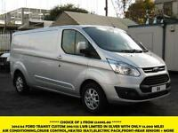 2014 FORD TRANSIT CUSTOM 290 LIMITED LWB IN SILVER WITH ONLY 20.000 MILES,AIRCON