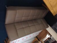 Sofa bed in tope black or brown leather