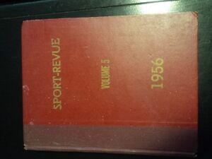 livre de revue antique de hockey,Maurice Richard et autre joueur