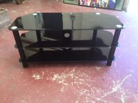 Black Glass TV Stand, Can Deliver