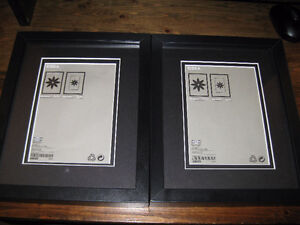 Two Black Ikea RIBBA Picture Frames with Double Matte