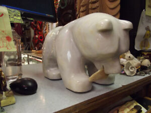 Marble Bear with Fish