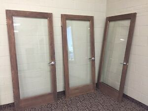 Wood Frame Doors with Glass Insert