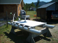 10 foot Custom made Aluminum Pontoon Boat