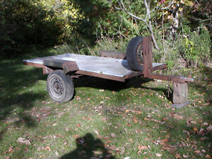 4'X8' flatbed trailer