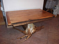 Rustic Cedar Root Dining room Table
