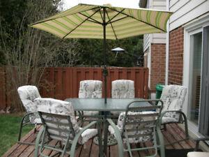 Complete patio set