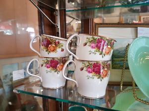 OLD COUNTRY ROSE...ROYAL ALBERT ...COFFEE CUPS