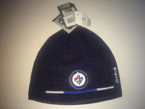 WINNIPEG JETS -  REEBOK - BLUE KNIT BEANIE WINTER HAT - NEW!!