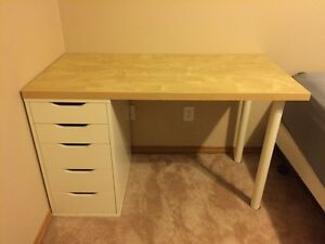 IKEA detachable desk and drawers