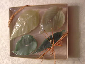 *NEW* 4 POTTERY BARN LEAF CANDLES (2 boxes)