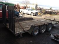 18 foot triaxle trailer