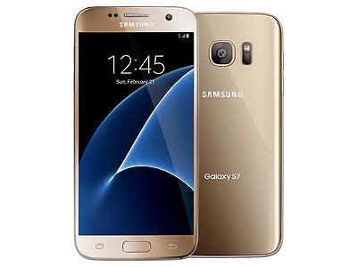 Samsung Galaxy S7 SM-G930 (Latest Model) - 32GB  Gold (Sprint) 9/10 Burn image
