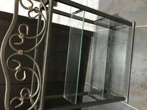 Wrought iron and glass display case