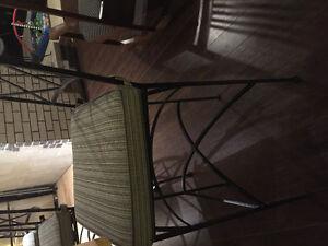 6 true wrought iron bar stools