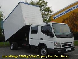 2008 Mitsubishi CVS Canter 75c15 Crew Cab Tipper High Sided Body Low Mileage