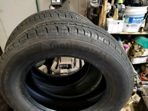 Tires: Four Continental 185 65 15, Two Motomaster 225 65 17