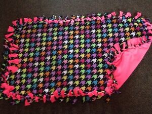 Bright colours handmade fleece blanket London Ontario image 1