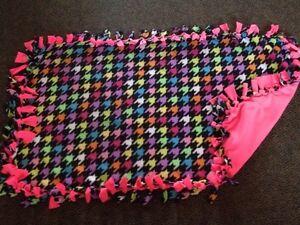 Bright colours handmade fleece blanket London Ontario image 1