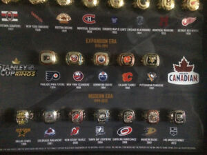 Complete Stanley cup rings