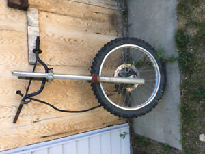 Honda front forks with good rim and tire