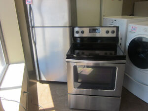 STAINLESS FRIDGE AND STOVE
