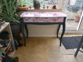 Up-cycled wooden dressing table/side table