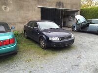 Breaking cars for parts, Audi A4, BMW 320d 520i, Honda Accord, Ford Mondeo, Vauxhall Vectra