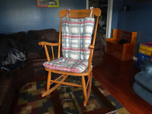 Wooden rocking chair with removable cushion cover