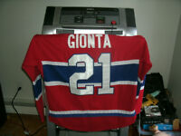 Montreal Canadiens Gionta Captains jersey with fight straps