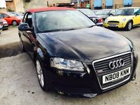 AUDI A3 CABRIOLET 1.9 DIESEL MANUAL LEATHER SEATS 2008 1 OWNER FULL HISTORY