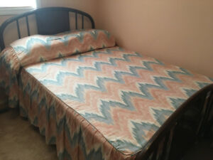 """Custom Sewn Bed spread and matching """" Balloon"""" valence"""