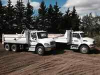 TANDEM DUMP/GRAVEL TRUCKS - FOR HIRE