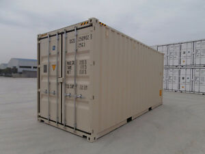 """20' Hi-Cube 9'6"""" New Storage Containers Free Delivery $ 3900."""