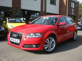 2011 61-Reg Audi A3 1.6TDI Sportback Sport,BRILLIANT RED,GEN 68,000 MILES!!!!