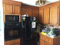 Complete kitchen cabinets and island