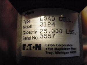 Lebow Eaton Load Cell Model 3124 25,000 lb