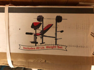 New bench and weight set