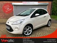 2010/60 Ford Ka 1.2 Titanium, White Pearlescent Paint, 3mth Warranty