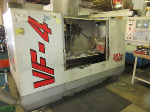 HAAS VF-4 CNC VERTICAL MACHINING CENTER W/4TH AXIS TABLE, 1997'