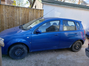 Blue 2007 Chevrolet Aveo5 LT hatchback for sale