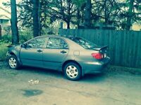 Parting out 2003 Toyota corolla