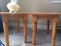 End tables x 2
