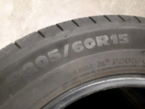 4 set of tires MICHELIN 205/60/15