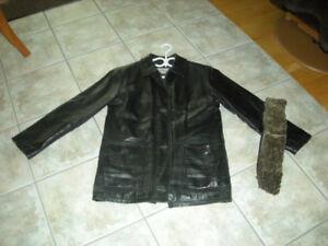 Manteau en cuir (small) pour homme