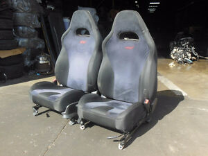2003 2004 Subaru WRX STi V8 Spec C Black Front Seat STI spec C S