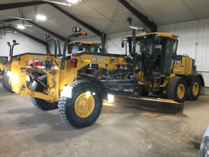 Sealed Bid - 2011 John Deere 870G Grader /w Snow Wing
