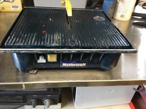 Used mastercraft tile wet saw