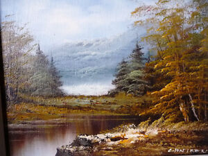 """Original Oil Painting by Phillip Cantrell """"Slow River Afternoon"""" Stratford Kitchener Area image 3"""